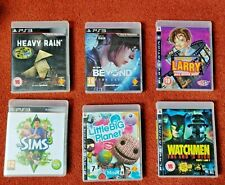 USED - JOB LOT of 6 MIXED GENRE games - for Sony PlayStation 3 PS3