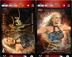 Topps WWE SLAM Digital 2019 Inception Orange Base & Sig Dana Brooke