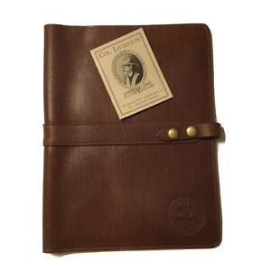 Col. Littleton Full-Grain Leather No.18 Portfolio w/ Stamped Seal of TN Agricul