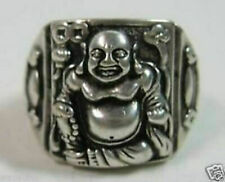 3pcs Chinese tibet silver laughing Buddha Tribal ring