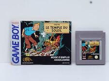 ♠ Nintendo Jeu TINTIN Le Temple Du Soleil Avec Notice Game Boy color ♠