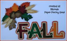 FALL title paper piecing Premade Scrapbook Pages album card by Rhonda