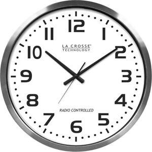 Lacrosse Technology 404-1220 Xl 20in. Atomic Aluminum Clock (4041220)