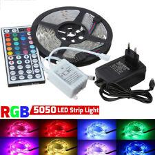 5M 5050 RGB 300LEDs Streifen Band Lichterkette Licht IR 44 Key Remote +Netzteil
