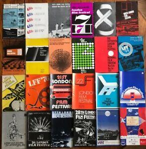 Rare Job Lot 24 x Vintage London Film Festival Souvenir Programmes 1958-1988