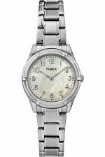 Timex TW2P76000, Women's Silvertone Bracelet Watch, Pearl Dial, TW2P760009J