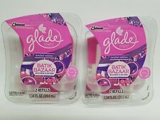 GLADE (LOT OF 2) LIMITED EDITION BATIK BAZAAR 4 TOTAL OIL REFILLS