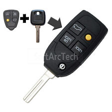 Flip Key Shell fit for Refit VOLVO S40 V40 C70 S80 4 Button Remote Fob S780D