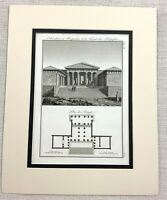 1821 Antique Engraving Propylaea Acropolis Greece Ancient Greek Architectural