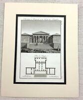 1821 Antique Engraving Propylaea Acropolis Greece Ancient Greek Architectural