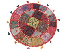 Large Round Floor Seating Cushion Pillow Cover Decorative India Ethnic Sham
