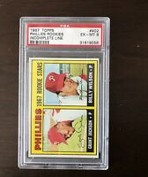 1967 Topps #402  Phillies Rookies Graded PSA 6 EX-MT