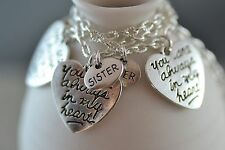 NS056-3 Three You Are Always In My Heart Sister Necklaces, Love, Friend