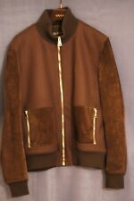 c087979d3 100% Authentic Gucci Jacket Brown Suede High Collar Size 60