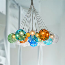 Bubble Ball Pendant Ceiling Lamp Colorful Glass Droplight G4 LED Child Bedroom