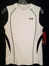 Tyr Women's Sleeveless Workout Running Fitness Shirt (Small) -Black / White -Nwt