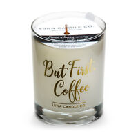 Fragrant Caramel Coffee Scented Jar Candle, Perfect Gift- But First, Coffee