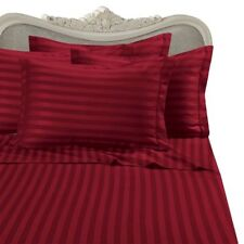1000 Thread Count 100% Egyptian Cotton Bed Sheet Set 1000 Tc Queen Red Stripe