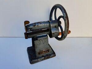 Rare antique cast iron Mebus Tosca leather splitter trimmer cobbler machine