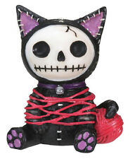 NEW Furrybones Furry Bones Black Cat Mao Mao Skull Skeleton Figurine Gift 7873