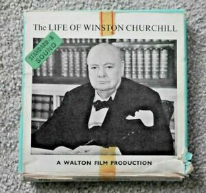 THE LIFE OF WINSTON CHURCHILL STANDARD 8mm FILM WALTON RARE IN BOX  I707