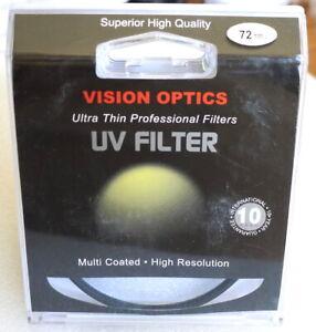 72mm Digital Vision UV Filter - Multi Coated - NEW