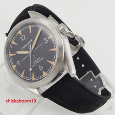New 41mm Corgeut Black Dial Sapphire Glass Miyota Automatic Movement Men's Watch