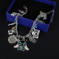 Lilo & Stitch Ohana Means Family Camera Silver Plated Charm Bracelet Gift Bag