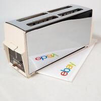Vintage Proctor-Silex Chrome 4 Slice Chrome Toaster USA Made MCM Retro Modern