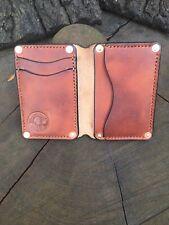 Horween Leather Bifold Wallet Riveted Bushcraft Vintage Style