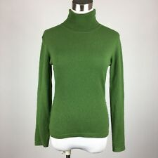 Pure Collection Womens Cashmere Pullover Turtleneck Sweater Size 8 Moss Green