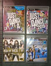 X4 LOT Playstation 3 ps3 games Just dance 4, 2015, sing it party Disney, sports