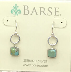 Barse Better than Basic Turquoise Earrings- Sterling Silver- NWT