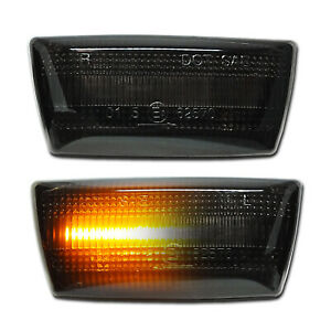 SCHWARZE dynamische LED Seitenblinker Opel Astra H J GTC OPC Corsa D E Chevrolet