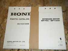 1983 HONDA BF75E BF100E MARINE ENGINE ORIGINAL PARTS CATALOG MANUAL BOOK