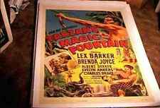 TARZANS MAGIC FOUNTAIN ORIG MOVIE POSTER 1949 LINEN LEX BARKER JUNGLE ACTION