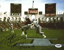 Todd Christensen Signed Raiders 8x10 Photo PSA/DNA COA Los Angeles Coliseum Auto