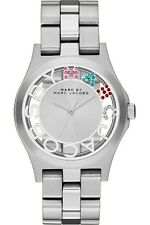 Marc Jacobs Mbm3262 Silver Ladies Henry Skeleton Watch - 2 Year