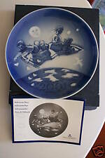 CHILDREN & TEDDY MAGIC CARPET PLATE  MILLENNIUM COPENHAGEN MIB
