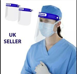 Full Face Visor Shields - Anti-Fog Face Protection - Pack of 10