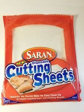 Saran Disposable Cutting Sheets Open Package of 9