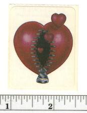 Small Vintage Acard Stickermania Zip Heart Glossy Sticker