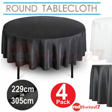 Solid Pattern Round Table Cloths