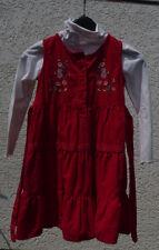 wunderschönes festliches Kleid cord rot mit Rolli Größe 116 Topo * TOP * wie neu