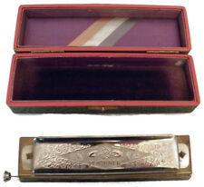 Antique Hohner Super Chromonica Chromatic Harmonica Key of C w/Box Made in Germa