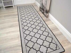 Grey Non Slip Door Mats Long Short Runner Rug Indoor Washable Thin Entrance Rugs