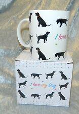 I love my dog Kaffeebecher Tasse in Geschenkbox Hunde