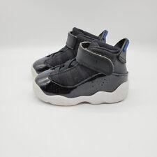 Air Jordan Baby Black White 6 Rings 323420-016 Toddler Sneaker Shoes Size 5C