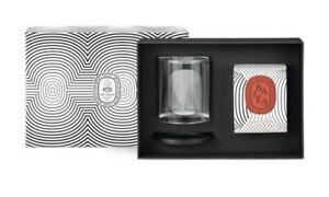 Diptyque Photophore Holder & Baies Candle Set 190g. Valentine Limit Edition.