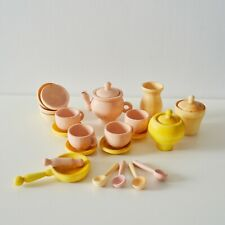 Dishes set Wooden Toy Dishes Wood food play set handiwork, hand made